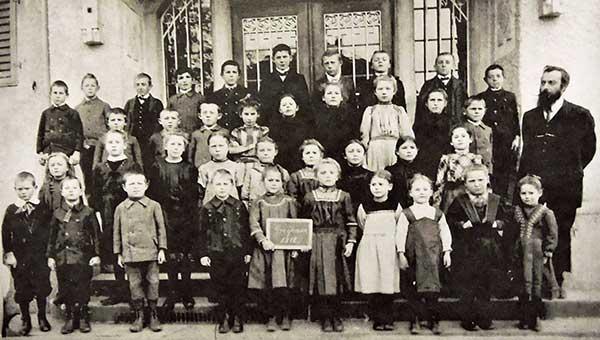 Schulklasse um 1912